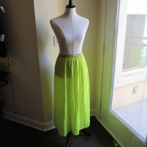 Old Navy Lime Green Maxi Skirt